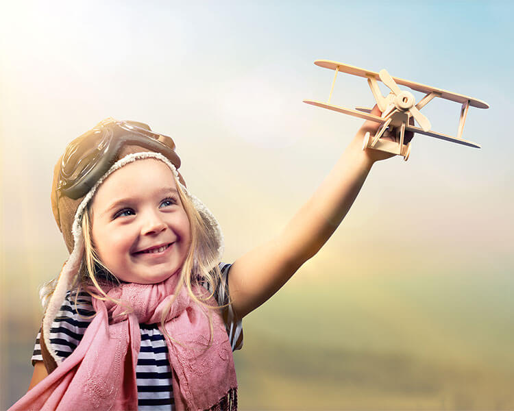 Child with Plane