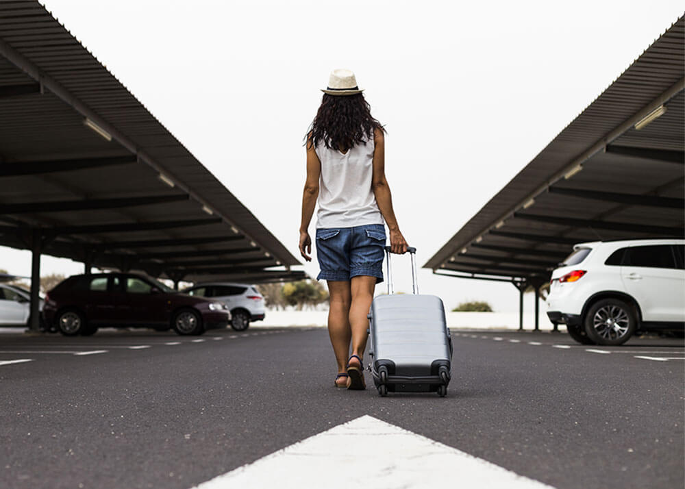 Girl with Luggage
