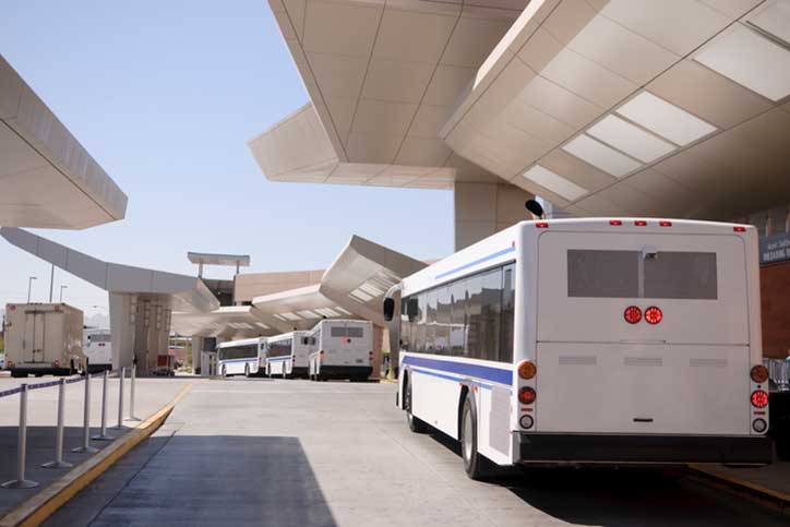 View of Airport Shuttles