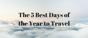 best days to travel