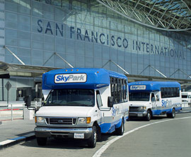 SkyPark SFO airport parking shuttle