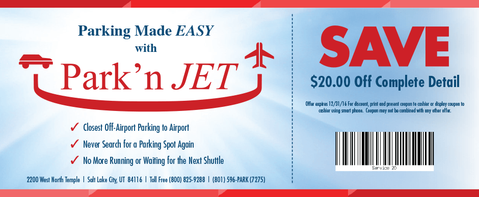 Park'n Jet - Three Coupons-3