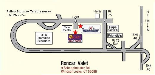 directions to Roncari Valet