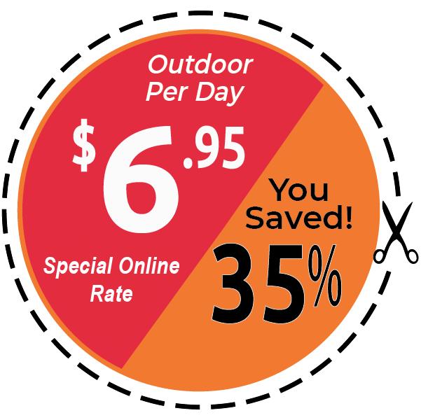 $6.95 Bargain Hunter Outdoor Parking